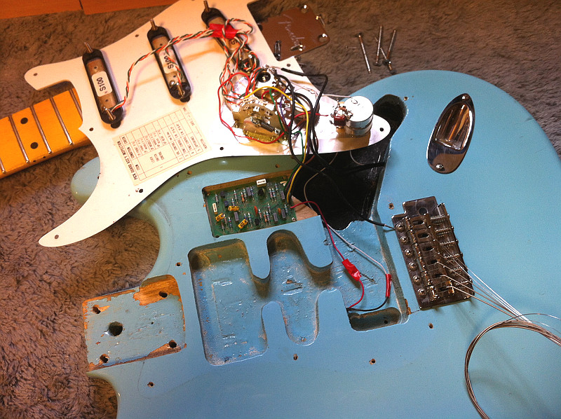 John Wesley Guitar Services: Maple Cap Strat with Don Lace Pickups ...