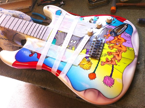 Fender Strat Dr Seuss