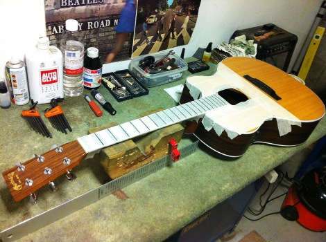 Guitar repairs Darlington