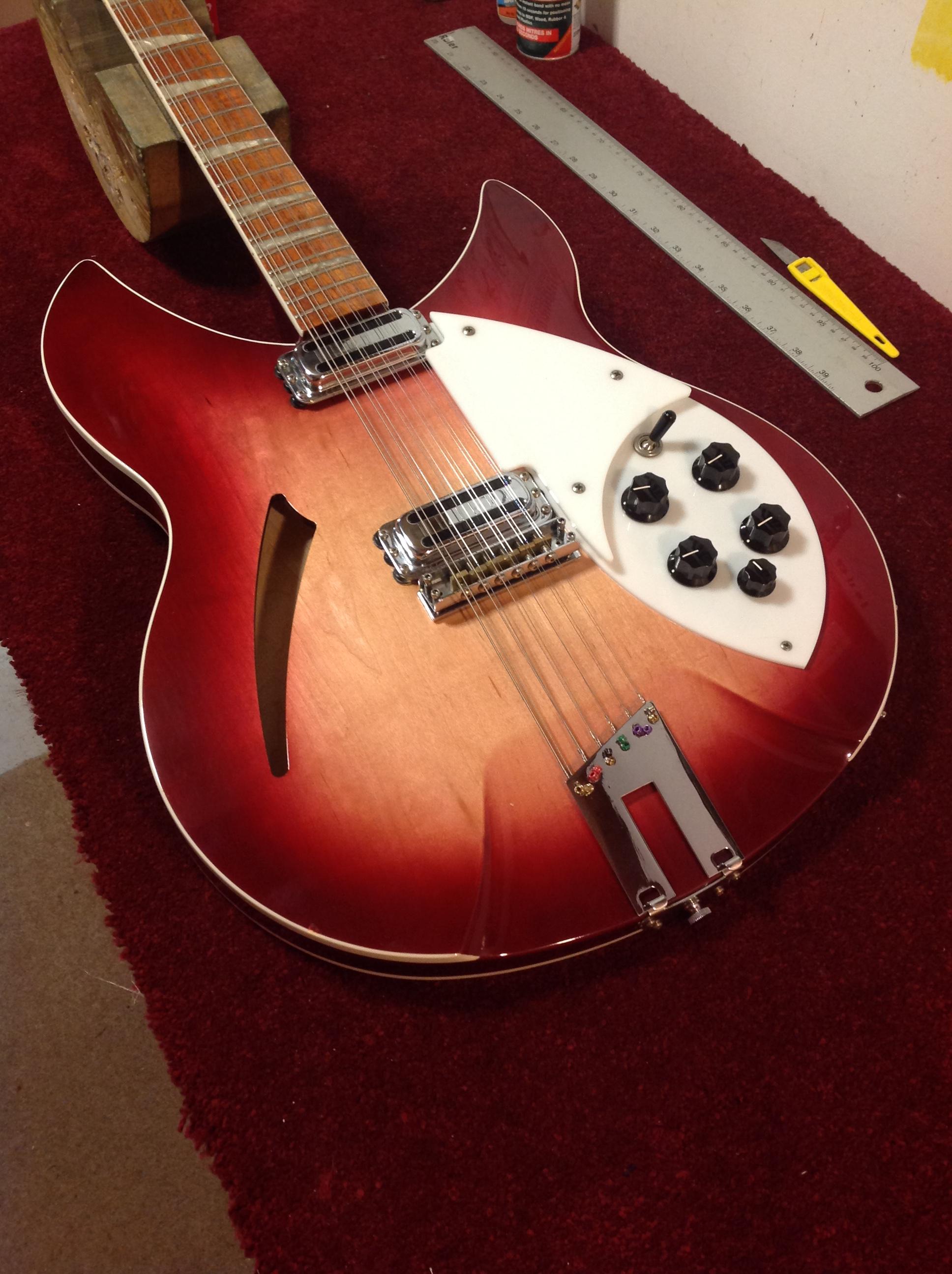 rickenbacker 330 12 fireglow 12 string john wesley guitar repairs. Black Bedroom Furniture Sets. Home Design Ideas